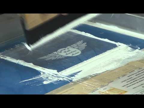 How To Screen Print: White Plastisol Ink On Navy Tee Shirts