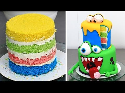MONSTERS Cake / How To Make by Cakes StepbyStep