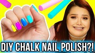 DIY DIP NAILS WITH CHALK?! Makeup Mythbusters w/ Karina Garcia & MayraTouchOfGlam