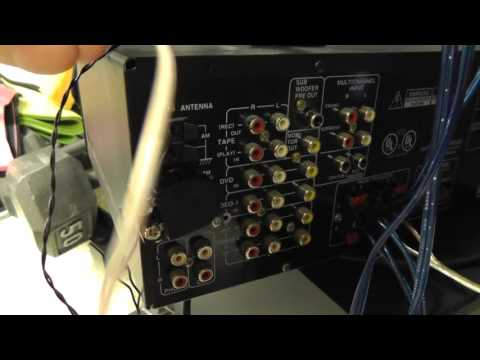 how to hook up wire FM antenna to 75 ohm plug