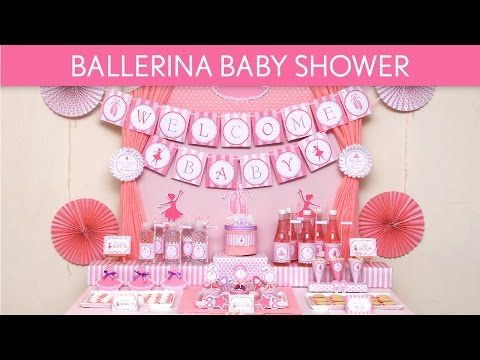 Ballerina Baby Shower Ideas // Ballerina - S49