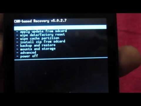 How to install CWM Recovery and Custom Rom In Bolt A35