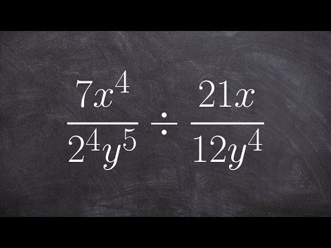 Dividing two rational expressions using the quotient rules of exponents