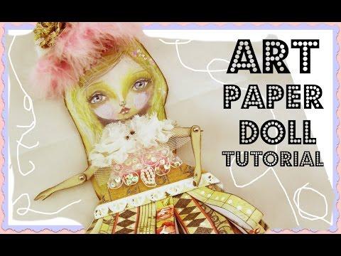 Inspiration Conspiracy Hop - Mixed Media Art Paper Doll