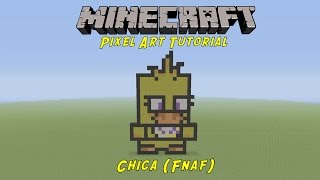 Minecraft Pixel Art Tutorial Freddy Fazbear Five Nights At