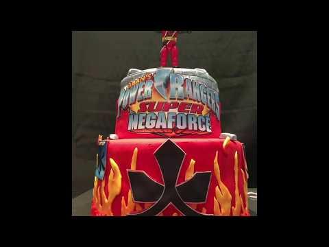 How to make a Power Ranger cake