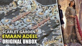 a6aa2f872a Emaan Adeel Bridal Collection 2019 - Unbox EA04 Scarlet Garden - Sara  Clothes