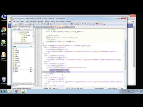 Learn how to create a PHP Lovers Blog using PHP and MySQL - Part 6