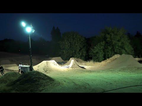 RIDING BMX DIRT JUMPS AT NIGHT!