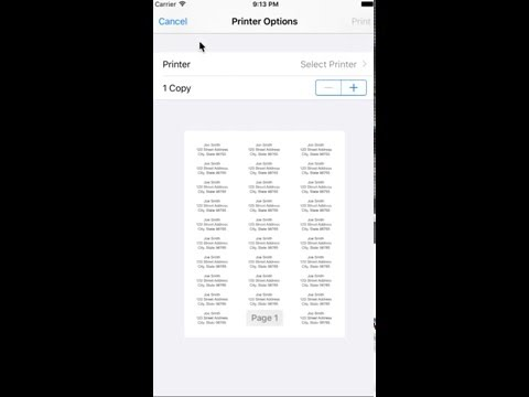Create and print labels using Mailing Label Designer for iPhone