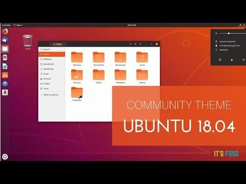 This is What Ubuntu 18.04 Community Theme Looks Like