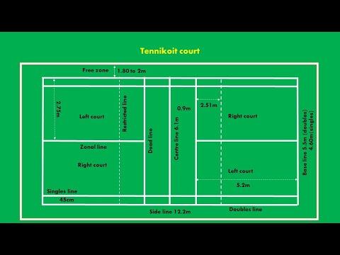 Tennkoit court easy marking plan