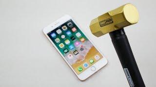 iPhone 8 Plus Hammer & Knife Scratch Test