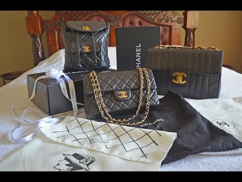 Chanel bag collection review including Vintage Chanel Jumbo & Backpack, Chanel double flap medium