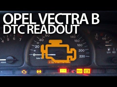 Opel Vectra B read DTC error codes (Vauxhall diagnostic mode)