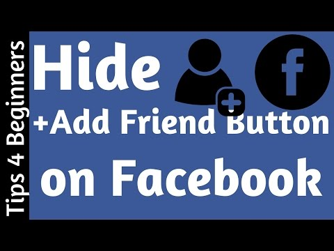 How to remove Add Friend Button on Facebook | Privacy - Facebook Tips Tricks