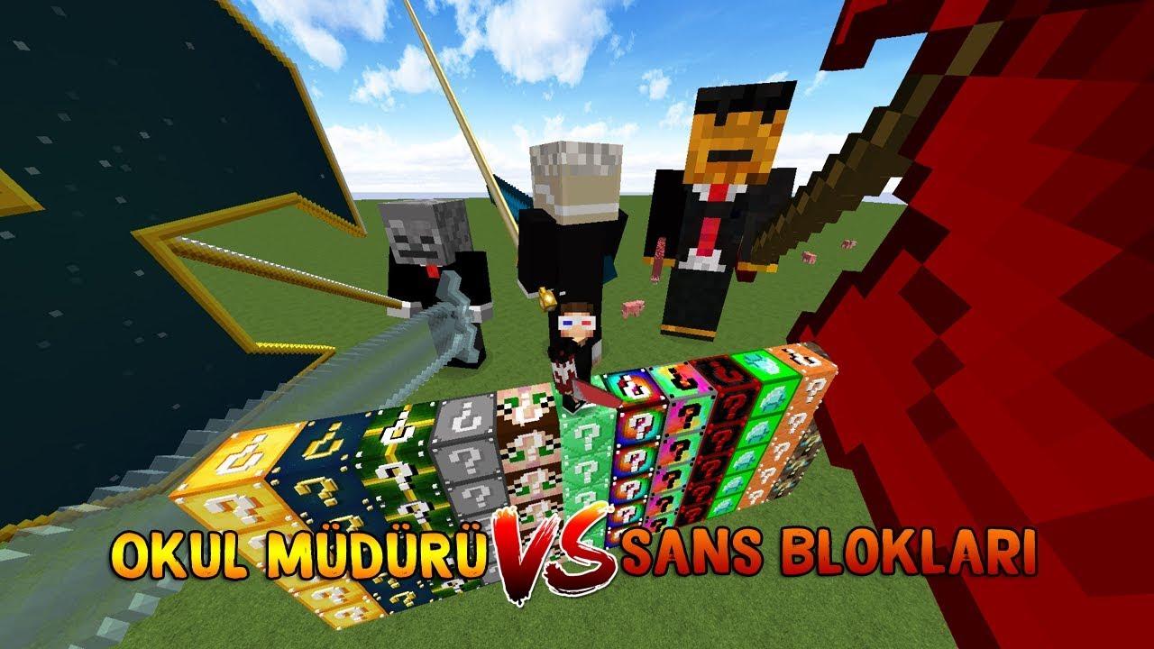 OKUL MÜDÜRÜ VS ŞANS BLOKLARI! - Minecraft