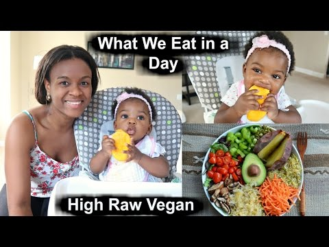 What my Vegan Baby and I eat in a Day | Raw Food ideas