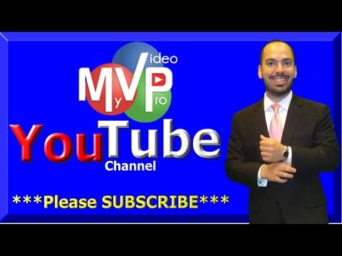 Please SUBSCRIBE to My Video Pro's YouTube Channel