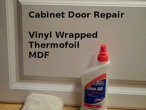 Repair Loose Vinyl Cabinet Door Edges