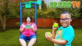 Download SPLASH DUNK TANK CHALLENGE! Water Balloons & 3 Marker Challenge!