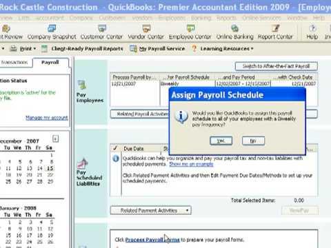 QuickBooks Payroll Schedules