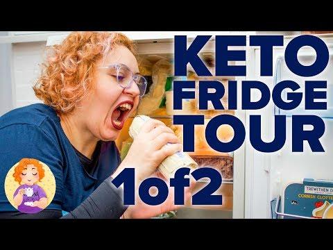 KETO Foods Haul Fridge Tour 1/2 || Keto Grocery Shopping List UK #4