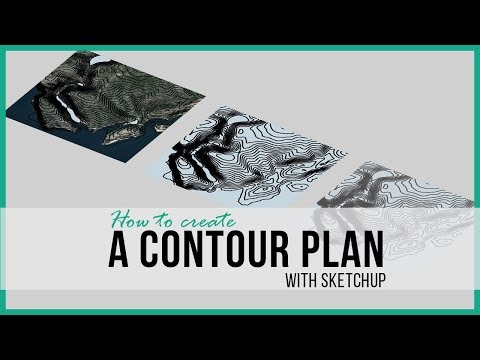 How to Generate Contour Map with Sketchup