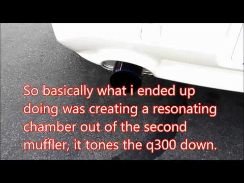 How to quiet your loud dual exhaust CHEAP!