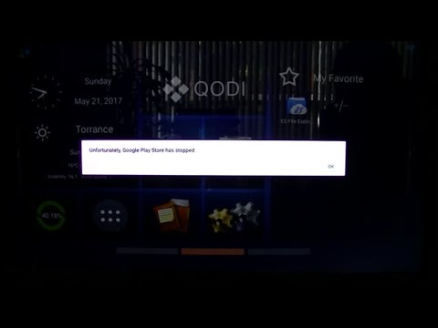 Unfortunately Google Play Stoe has Stopped Android TV boxes