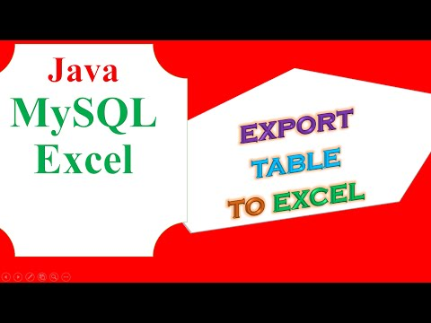 Java MYSQL Database Ep.06 - Export table to Excel