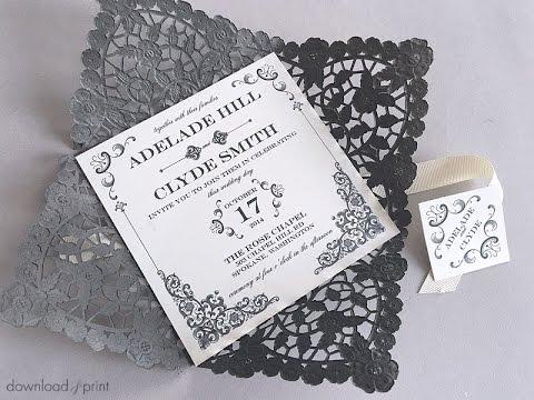 DIY Vintage Iron Wedding Invitation