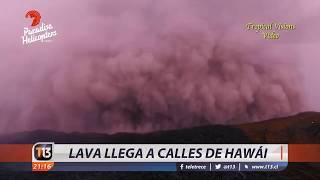 Erupción llega a las calles de Hawaii