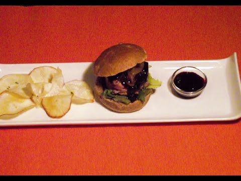 How to make a tapa of mini prosciutto hamburgers. Easy, super Fast