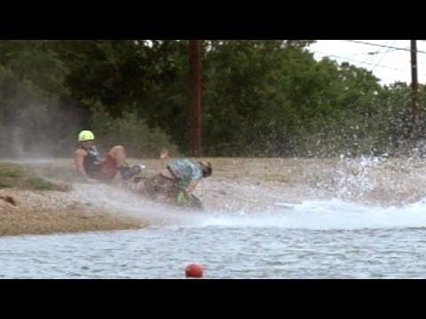 Daniel Grant scorpion slams into the shore