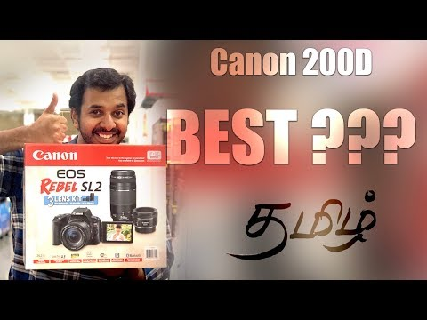 Canon 200D Review | Cheapest DUAL PIXEL DSLR | Learn Photography in Tamil