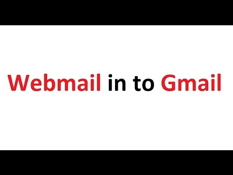 How to Setup or Fix webmail in to Gmail or Google account ?