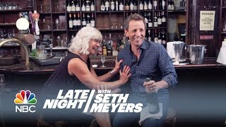 Seth and His Mom Go Day Drinking - Late Night with Seth Meyers