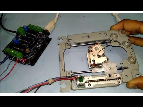 Take out DVD Drive Stepper motor mechanism + Wiring + Test run