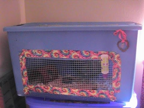 My Hamsters Bin Cages + Tools you need to Make A Bin Cage