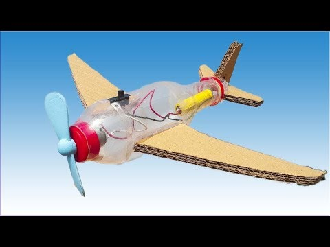 How to Make a Flying Airplane F-35 Aircraft using Plastic Bottle and Cardboard | M SAQIB