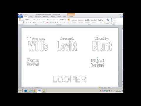 Making Posters in Word