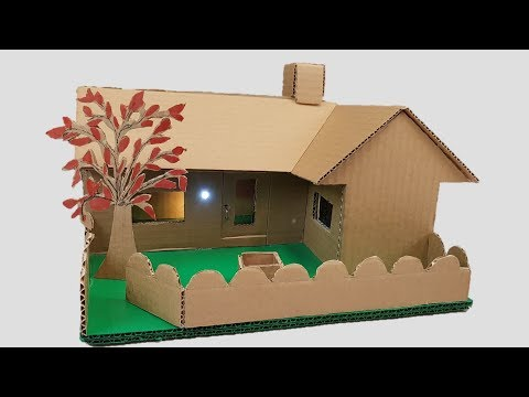 Building cardboard House -Garden Villa - Dream-house