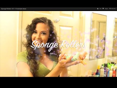 Sponge Rollers 101 + 5 hairstyle ideas