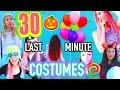 30 Last Minute Halloween Costumes in 1 Minute Challenge!