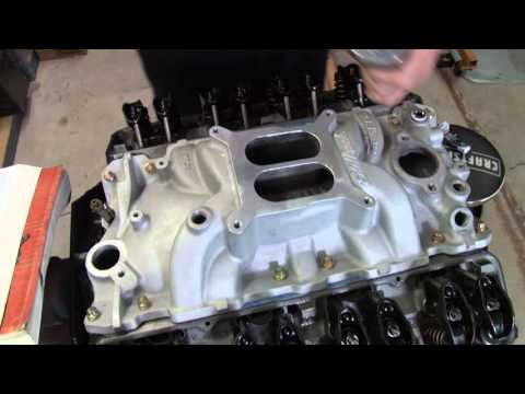 Rob Dana shows how to install an intake Manifold on a small block V8 #112