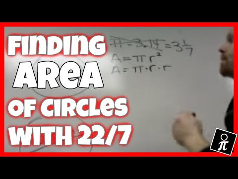 Finding the area of circles using 22/7