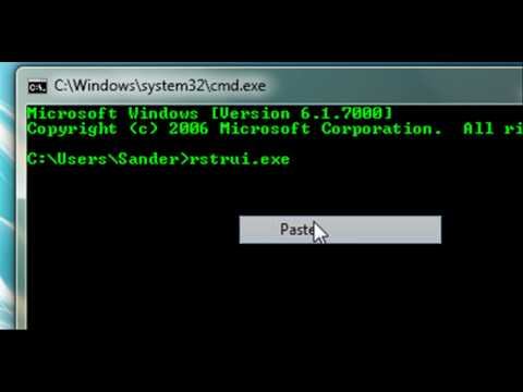 How to restore your computer with command prompt