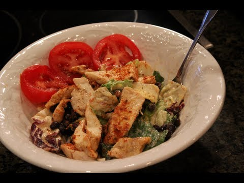 High-Protein Bodybuilding Cutting Meal:  Healthy Chipotle Chicken Salad