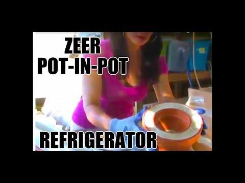 Zeer Pot-in-pot refrigerator higher humidity results Flower Pot Fridge